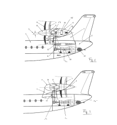 aircraft with tail propeller engine layout diagram schematic and image 02 [ 1024 x 1320 Pixel ]