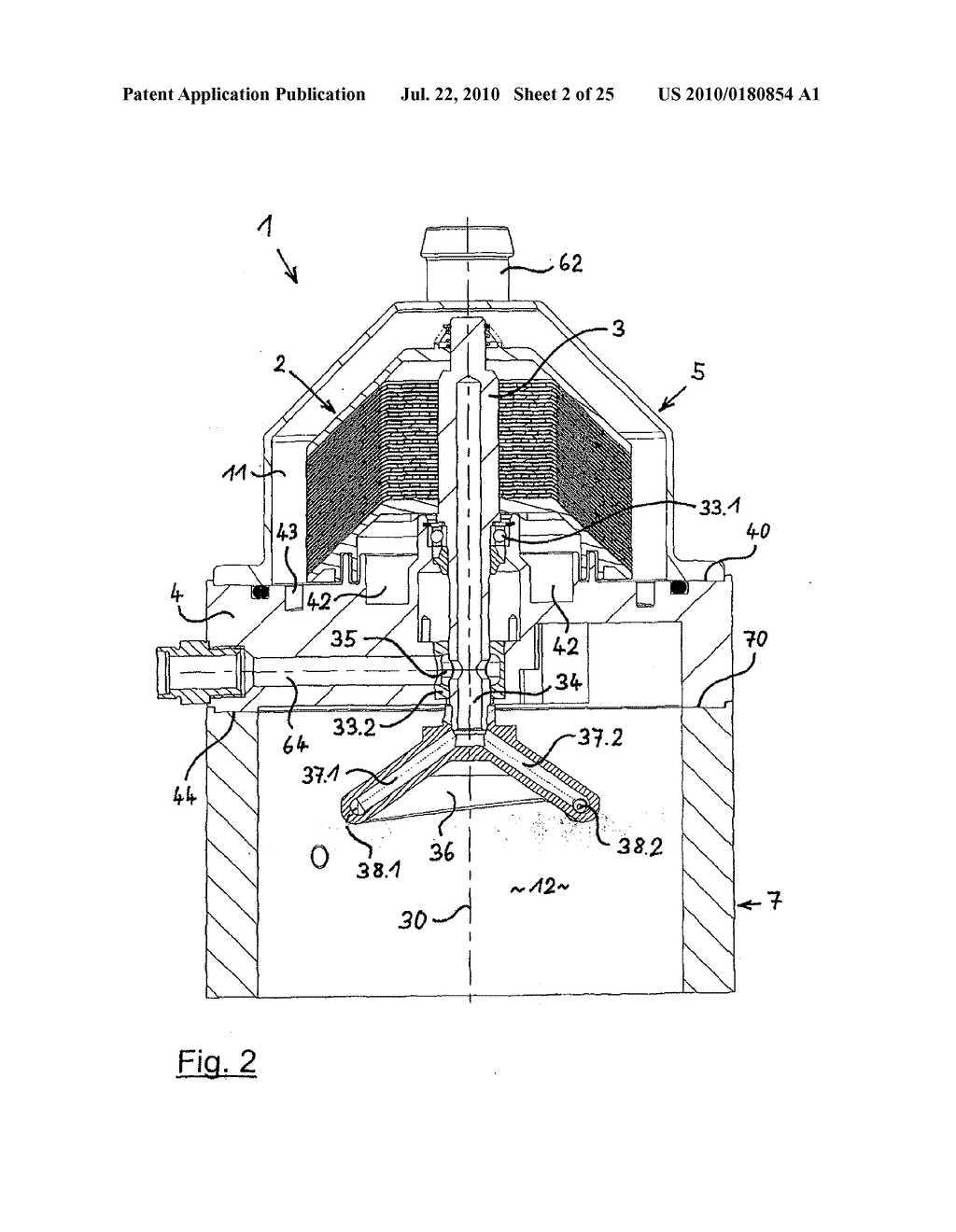 Separator for separating oil mist from the crankcase ventilation
