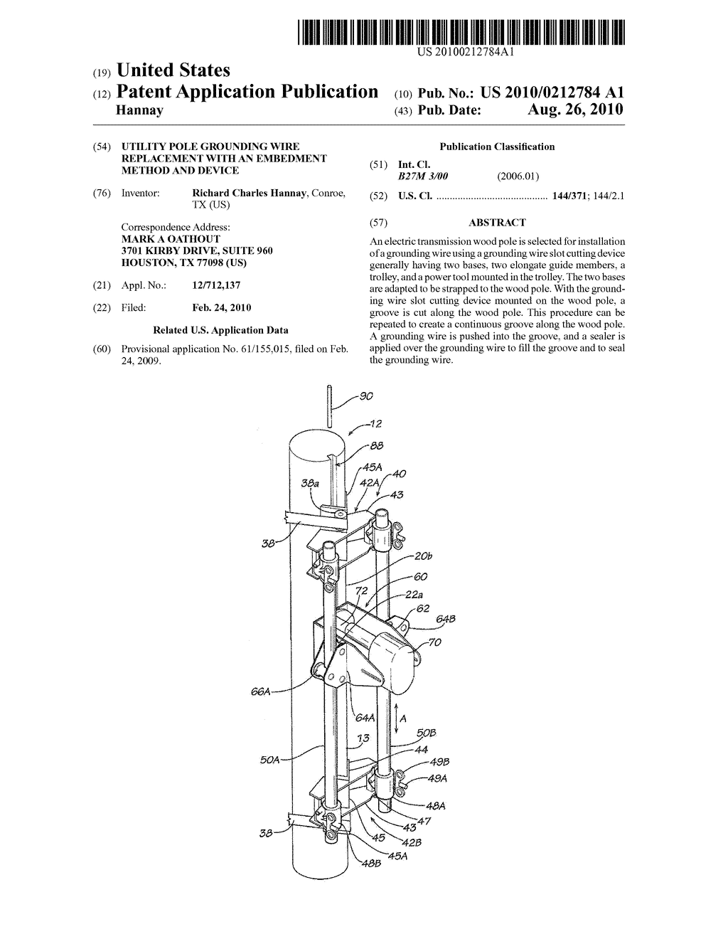 hight resolution of utility pole grounding wire replacement with an embedment method and device diagram schematic and image 01
