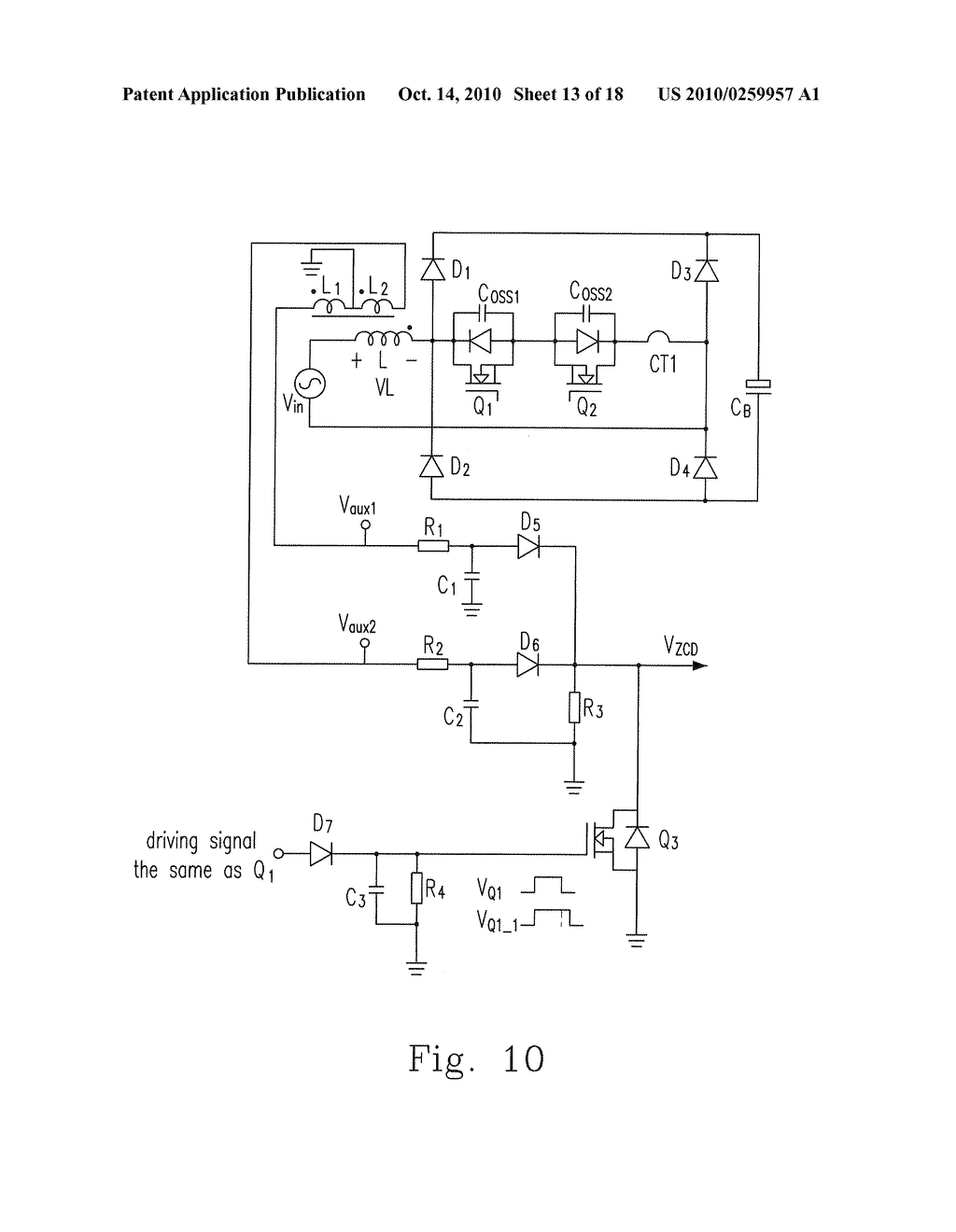 hight resolution of bridgeless pfc circuit for critical continuous current mode and controlling method thereof diagram schematic and image 14