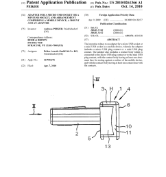 adapter for a micro usb socket or a mini usb socket and arrangement comprising a mobile device a mount and an adapter diagram schematic and image 01 [ 1024 x 1320 Pixel ]