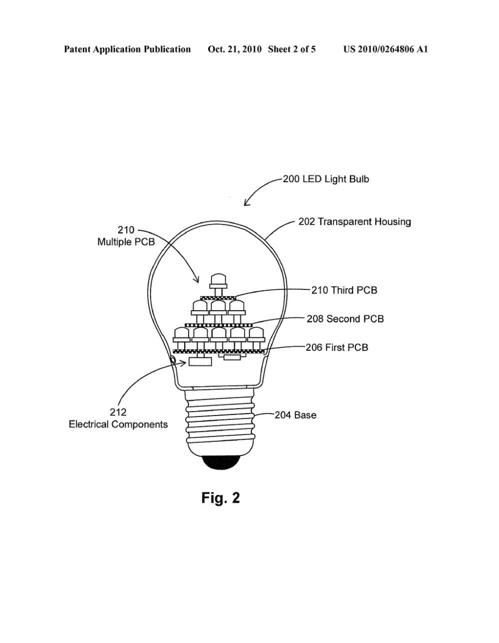 medium resolution of led light bulbs in pyramidal structure for efficient heat dissipation diagram schematic and image 03