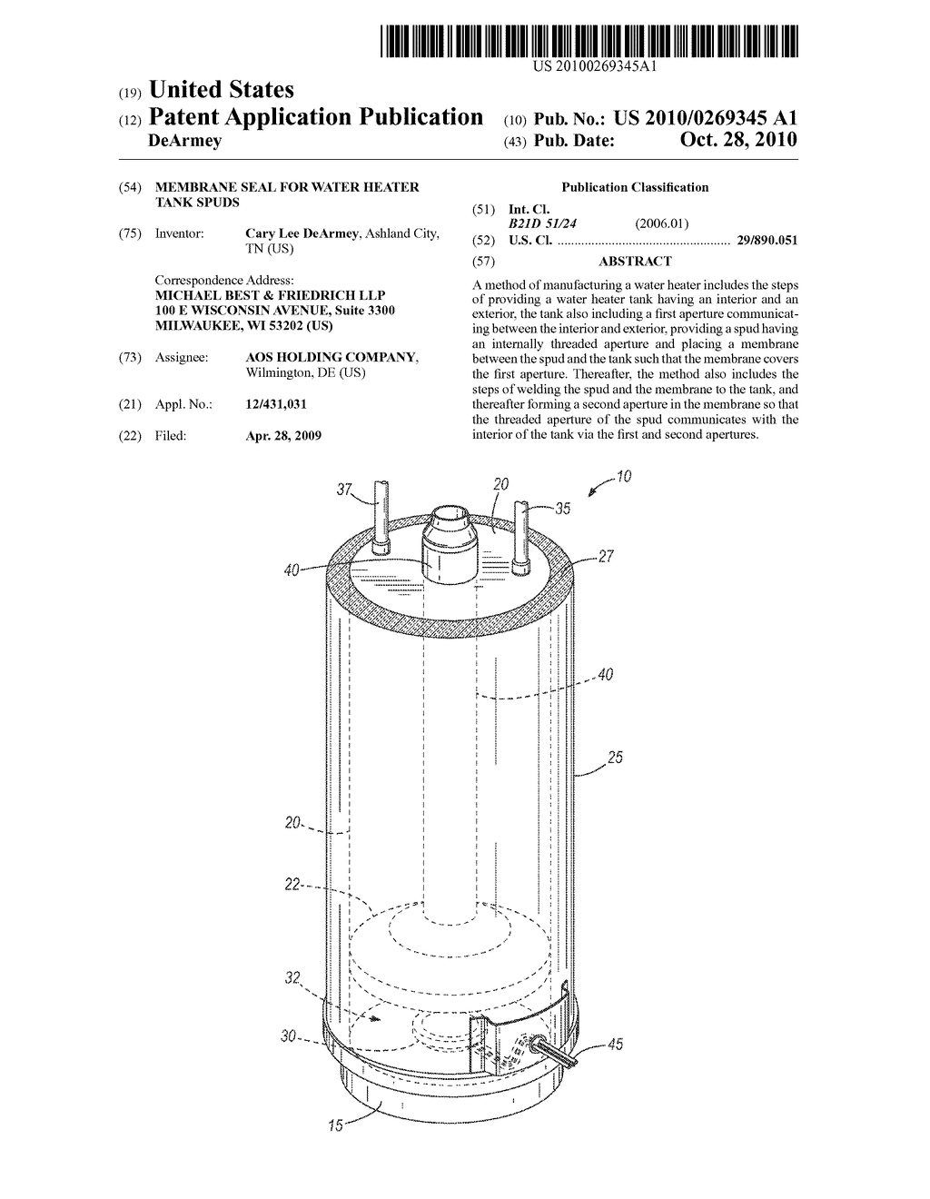 hight resolution of membrane seal for water heater tank spuds diagram schematic and image 01