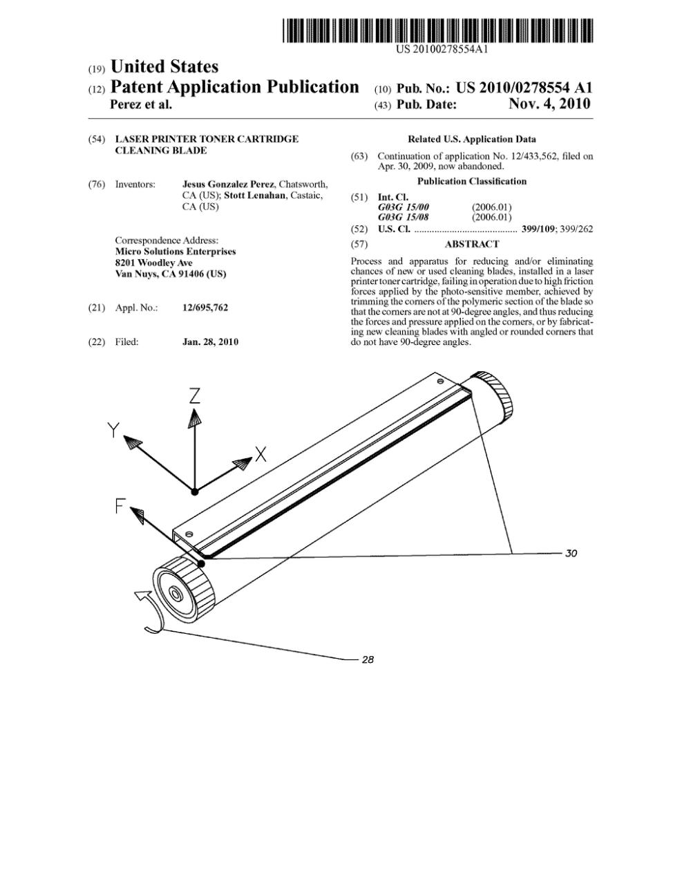 medium resolution of laser printer toner cartridge cleaning blade diagram schematic and image 01