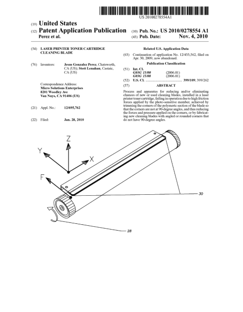 small resolution of laser printer toner cartridge cleaning blade diagram schematic and image 01