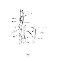 holder for attachment to chain link fence diagram schematic and image 02 [ 1024 x 1320 Pixel ]