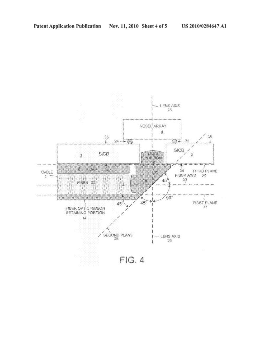 medium resolution of optical ribbon cable attachment mechanism for the backside of a circuit board diagram schematic and image 05