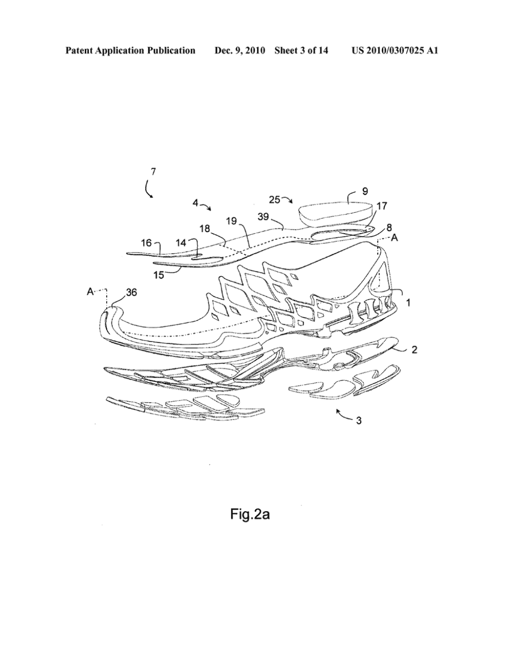 medium resolution of midsole for a shoe in particular a running shoe diagram schematic and image 04