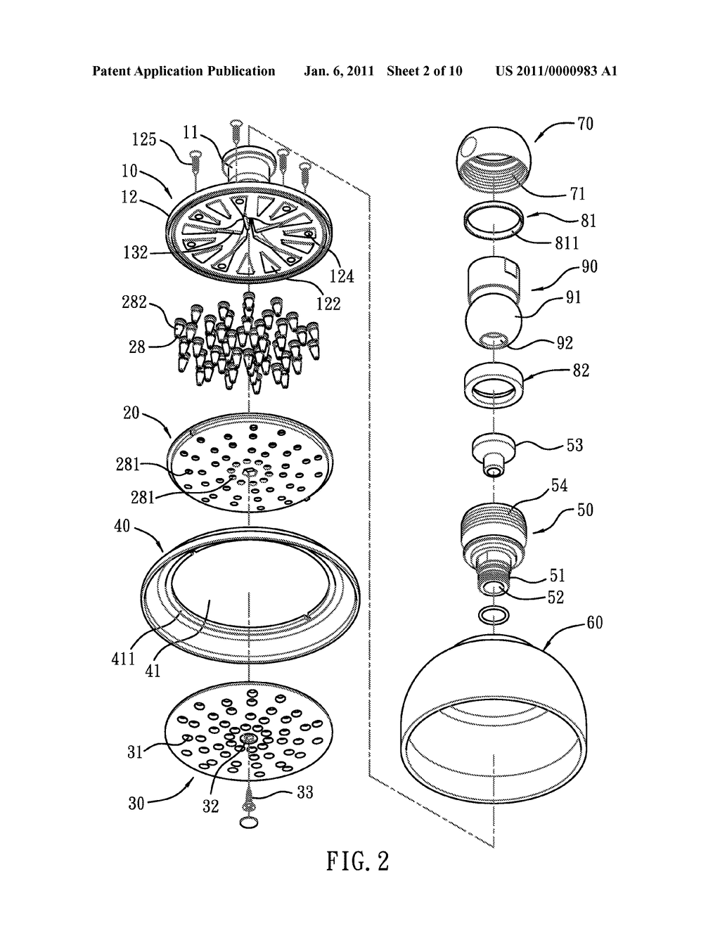 hight resolution of diagram of shower head