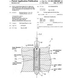insulator for spark plug process for producing the insulator spark plug and process for producing the spark plug diagram schematic and image 01 [ 1024 x 1320 Pixel ]