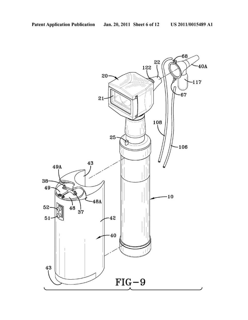 medium resolution of otoscope with attachable ear wax removal device diagram schematic and image 07