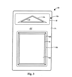 hang tab reinforcement for blister card packaging structures diagram schematic and image 04 [ 1024 x 1320 Pixel ]