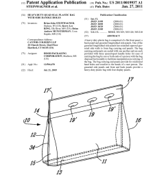 heavy duty quad seal plastic bag with side handle holes diagram schematic and image 01 [ 1024 x 1320 Pixel ]