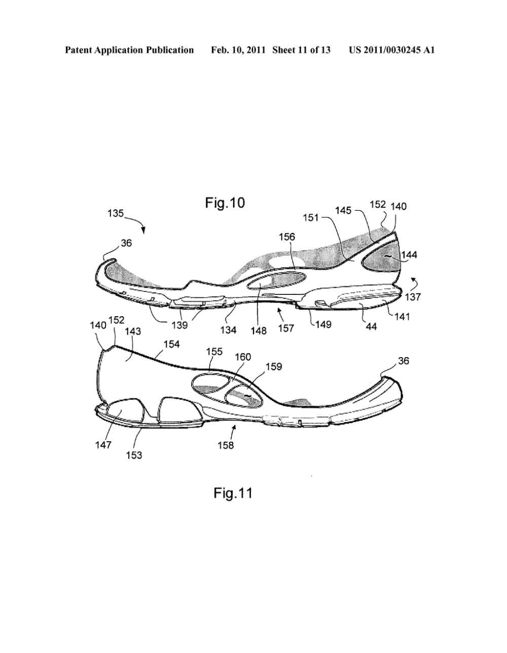 medium resolution of sole for a shoe in particular for a running shoe diagram schematic and image 12
