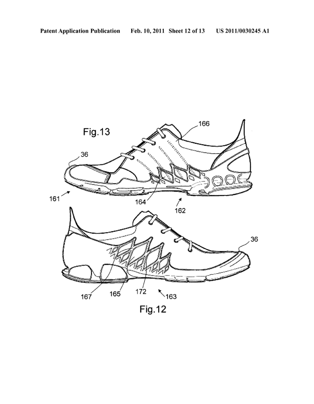 medium resolution of sole for a shoe in particular for a running shoe diagram schematic and image 13