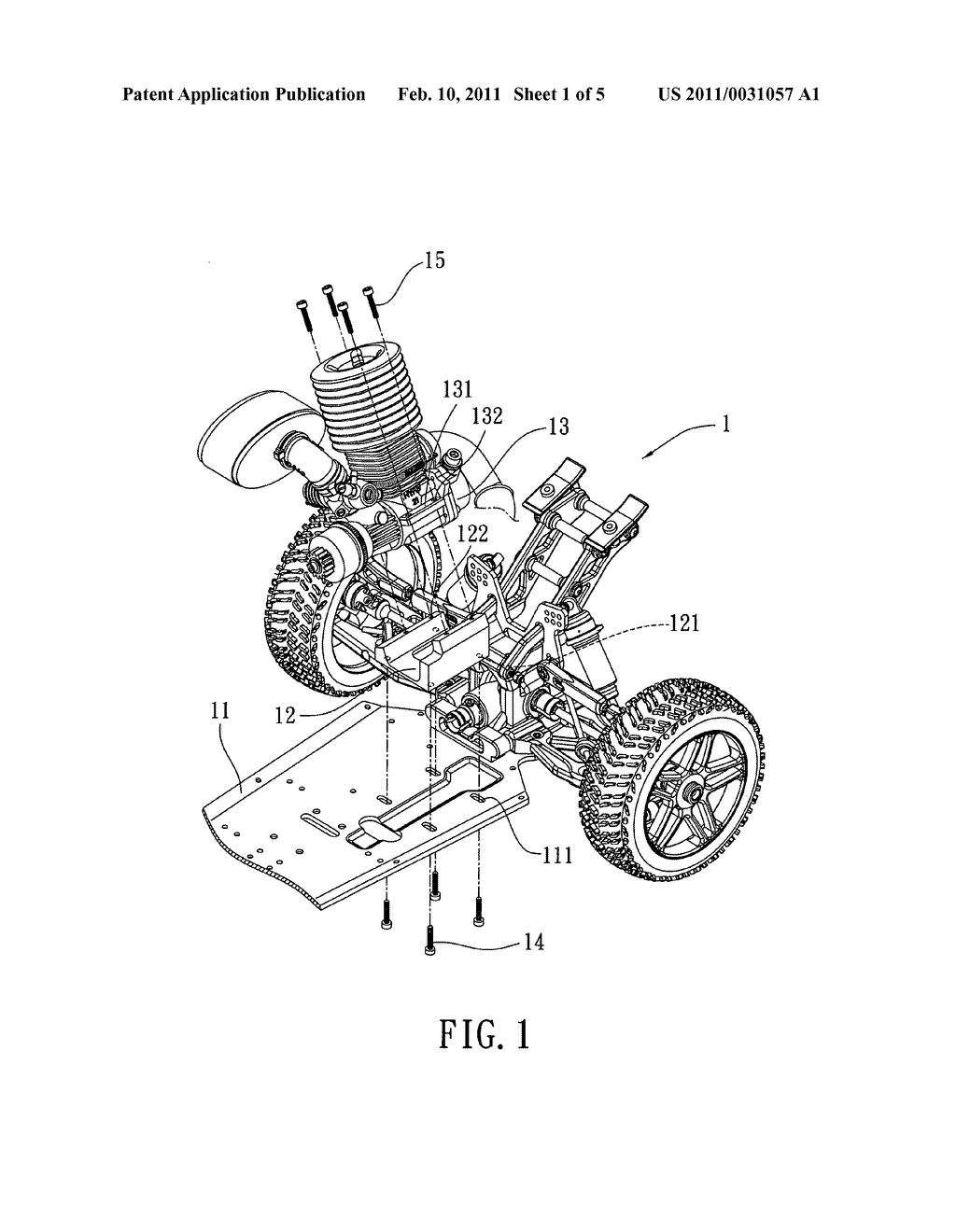 Structure for stabilizing a center of gravity of a remote car body