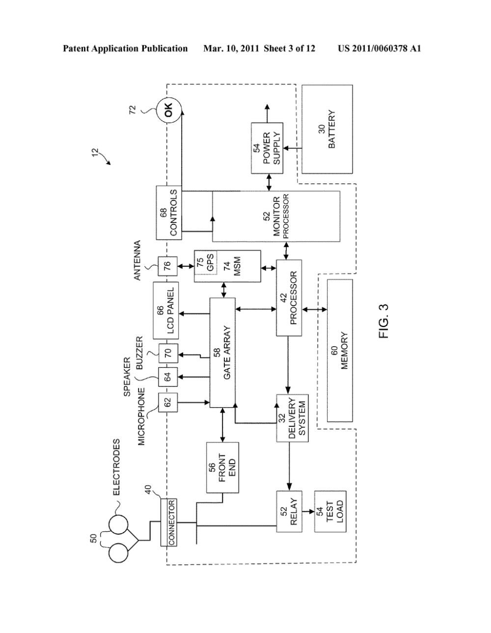 medium resolution of automated external defibrillator device with integrated wireless modem diagram schematic and image 04