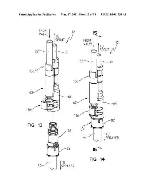 small resolution of integrated kitchen faucet side spray and diverter diagram schematic and image 16