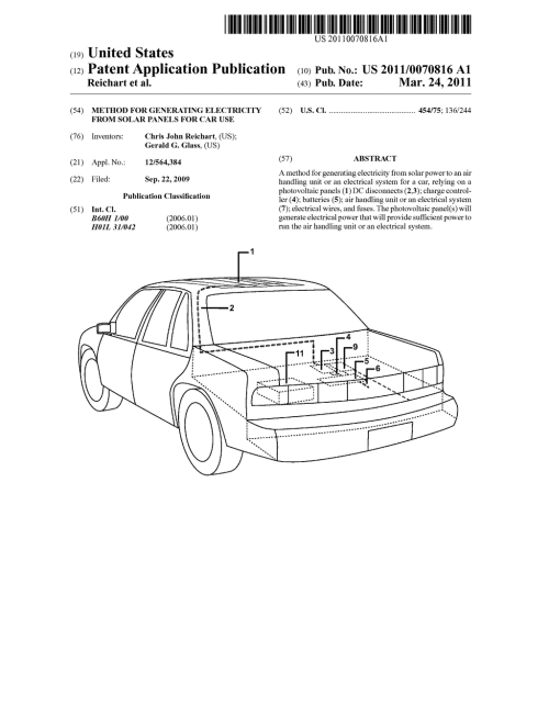 small resolution of method for generating electricity from solar panels for car use diagram schematic and image 01