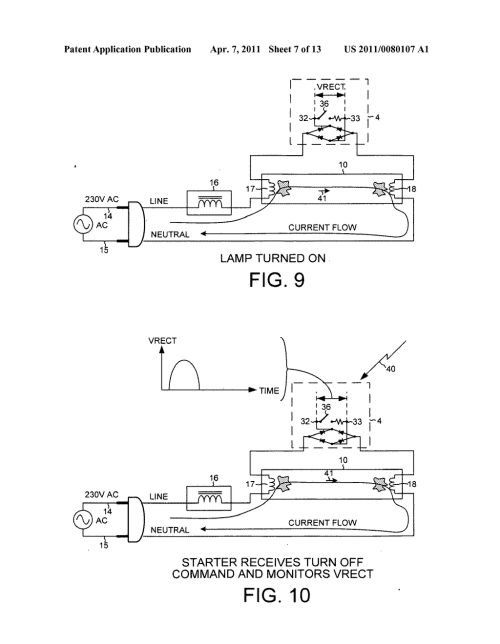 small resolution of dimming a multi lamp fluorescent light fixture by turning off an individual lamp using a wireless fluorescent lamp starter diagram schematic