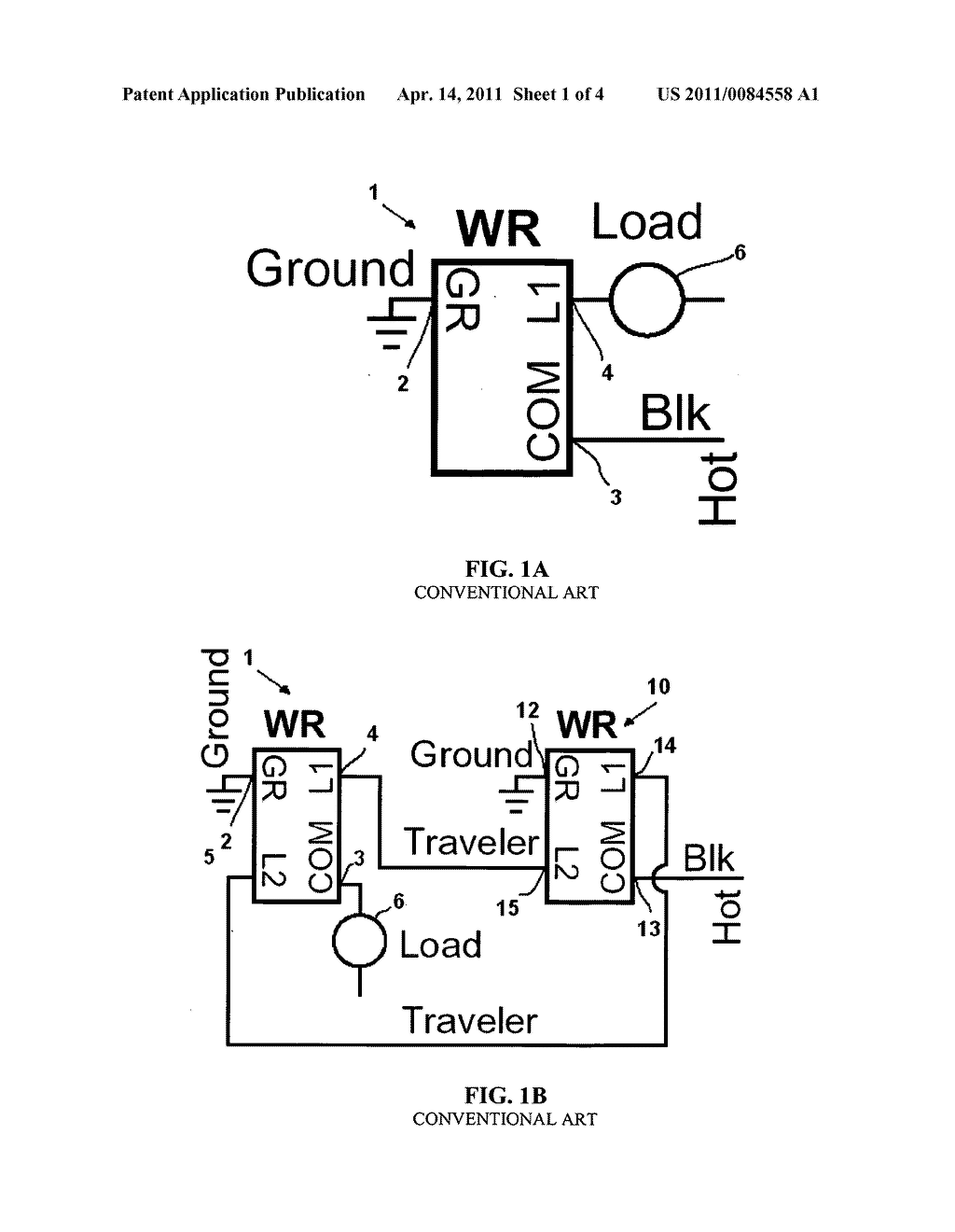 hight resolution of motion sensor switch for 3 way light circuit and method of lighting control using the same diagram schematic and image 02