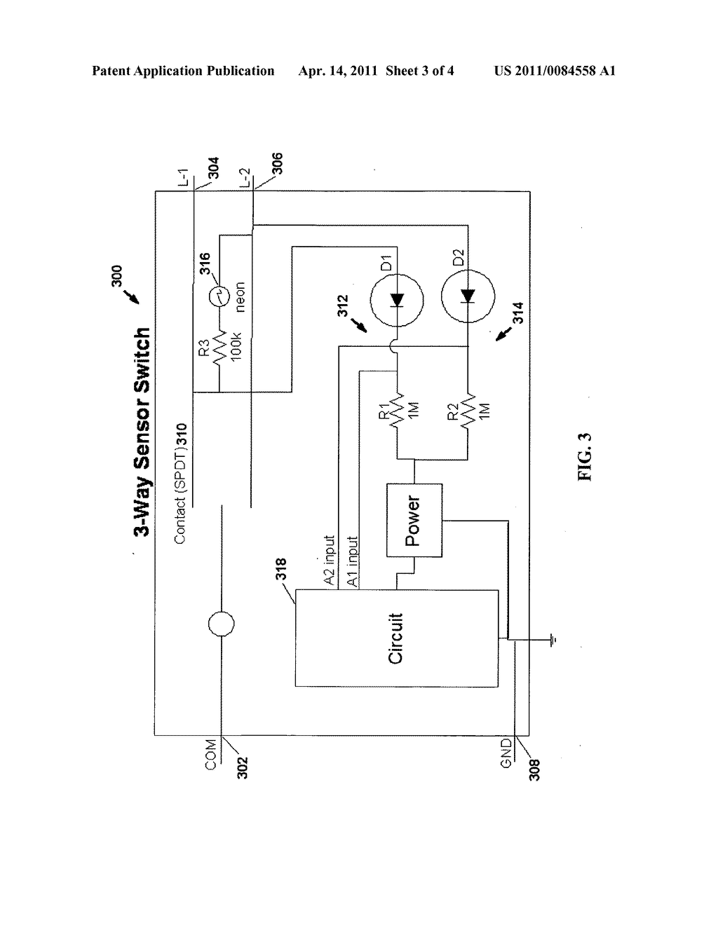 hight resolution of motion sensor switch for 3 way light circuit and method of lighting control using the same diagram schematic and image 04