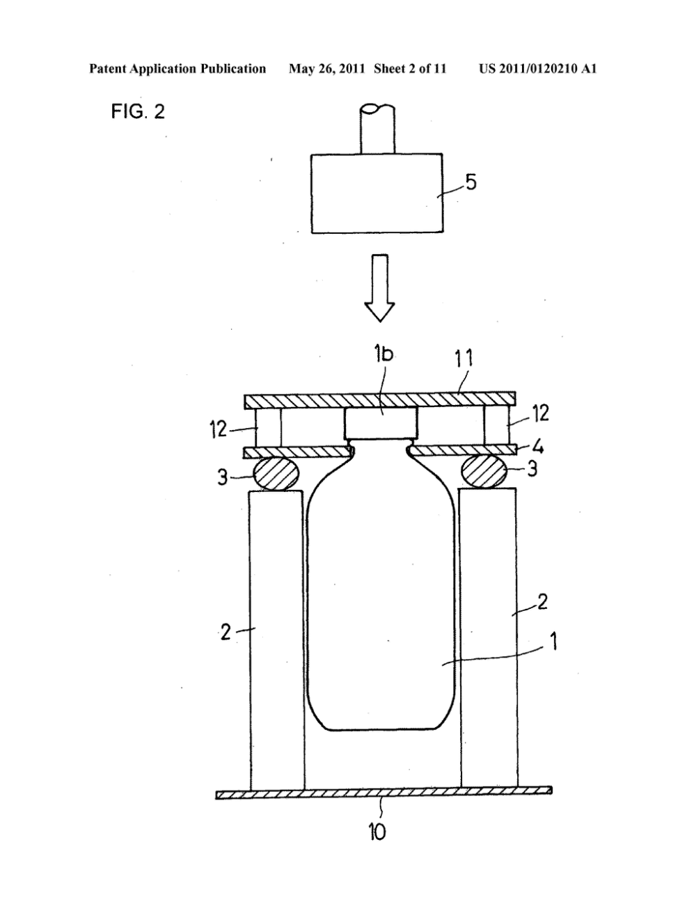 medium resolution of method and apparatus for testing water hammer strength of glass bottle diagram schematic and image 03