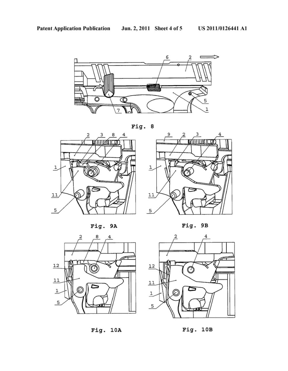 medium resolution of magazine dependent safety mechanism of a handgun diagram schematic and image 05