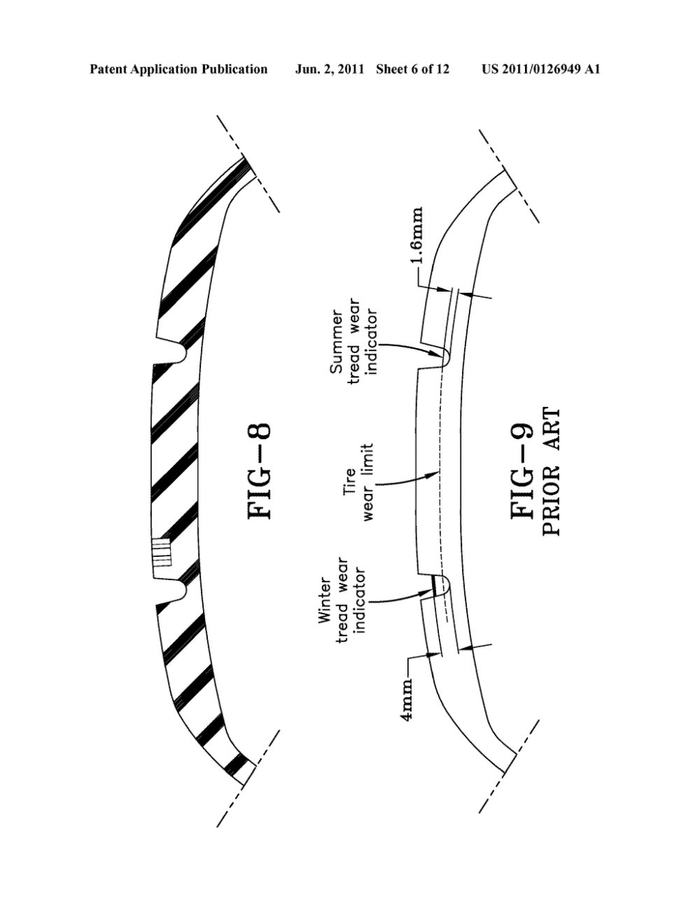 medium resolution of tire tread wear indicator and molding device for forming a tread wear indicator diagram schematic and image 07