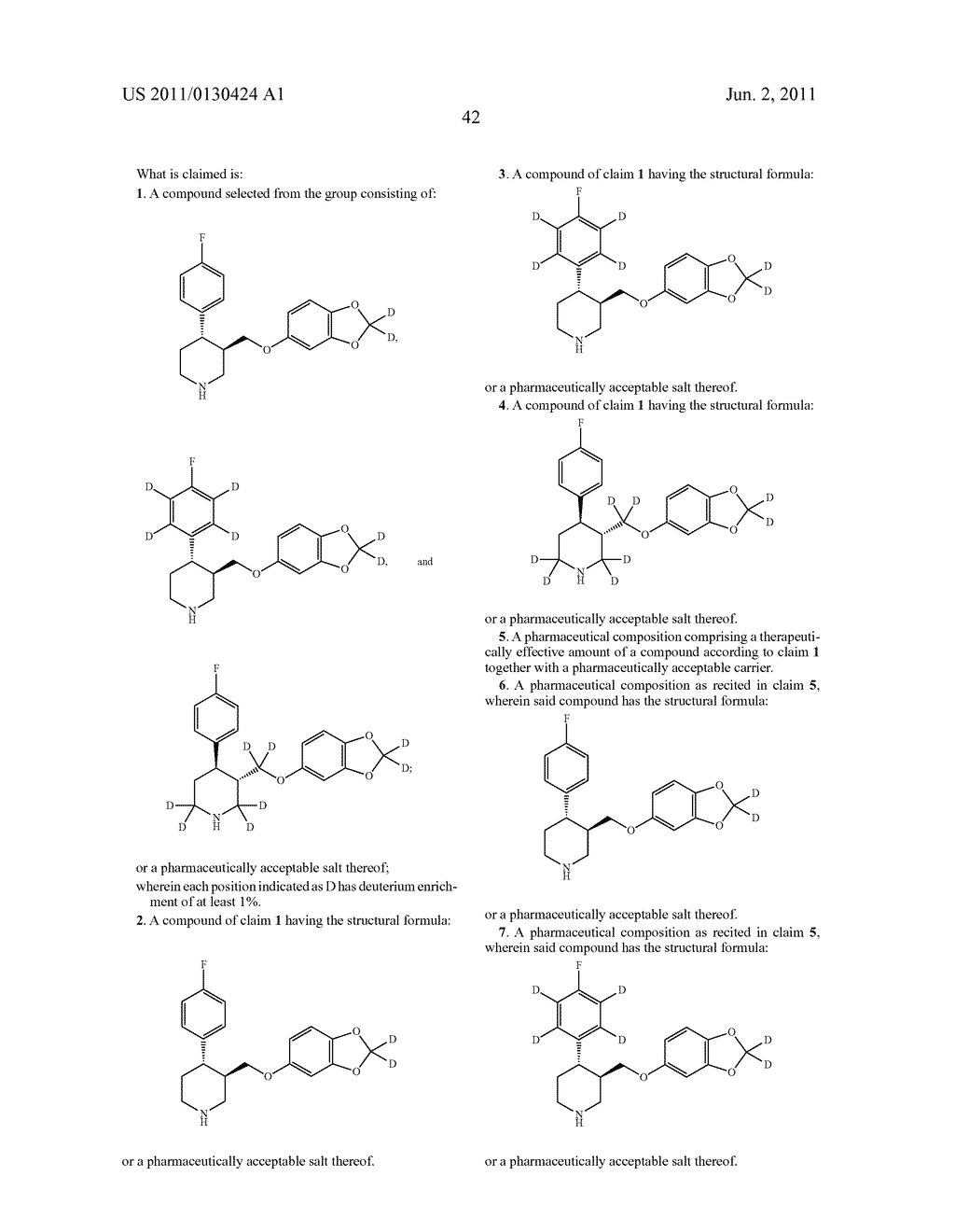 hight resolution of substituted phenylpiperidines with serotoninergic activity and enhanced therapeutic properties diagram schematic and image 43