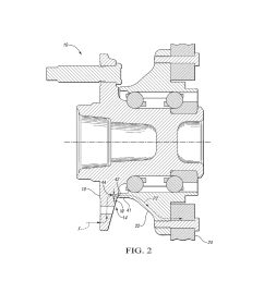 apparatus with secondary load path for vehicle wheel bearing assembly diagram schematic and image 03 [ 1024 x 1320 Pixel ]