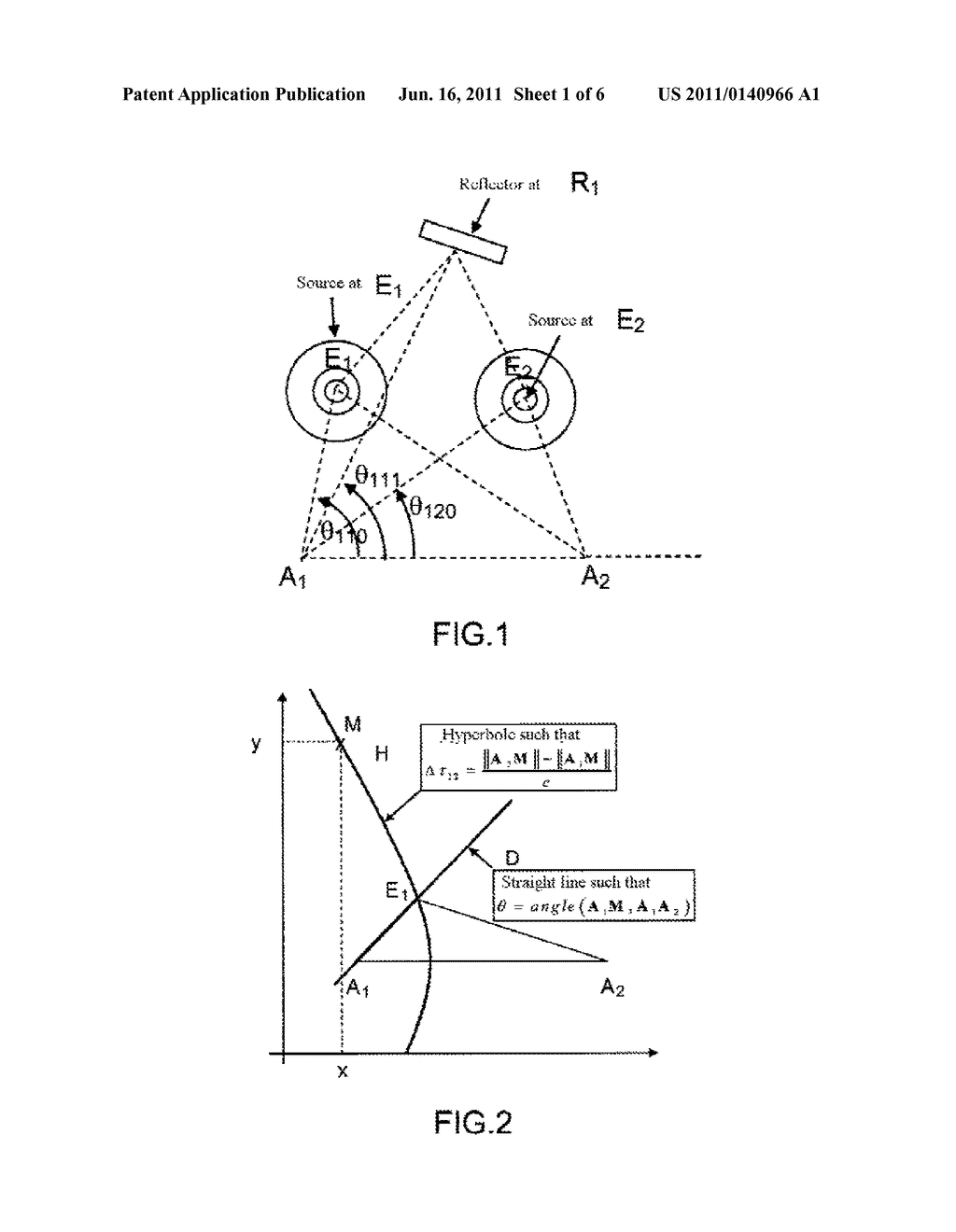 hight resolution of method of multi transmitter and multi path aoa tdoa location comprising a sub method for synchronizing and equalizing the receiving stations diagram