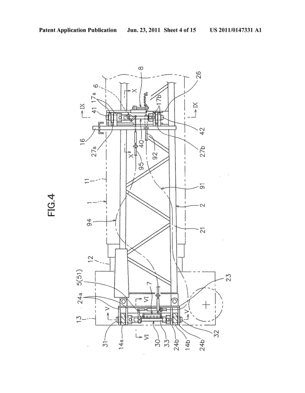 medium resolution of jib stowing device for jib crane vehicle diagram schematic and image 05