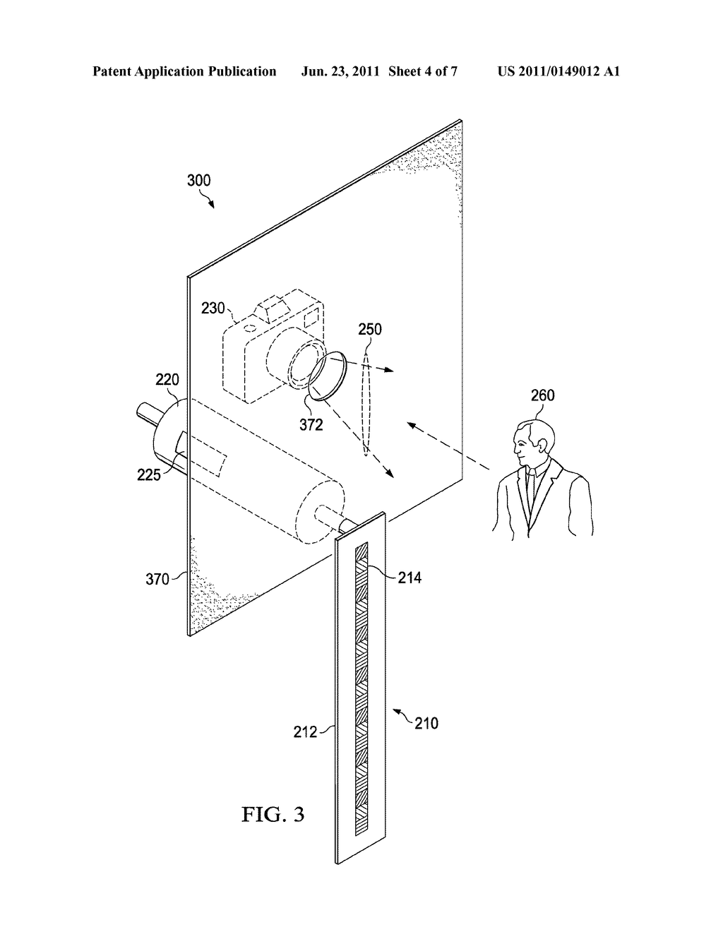 hight resolution of videoconferencing terminal with a persistence of vision display and a method of operation thereof to maintain eye contact diagram schematic and image 05