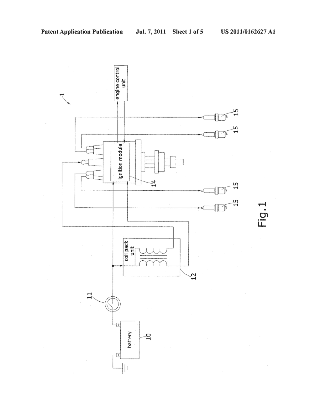 hight resolution of mixed electronic ignition system integrated with a distributor structure and an engine control unit diagram schematic and image 02