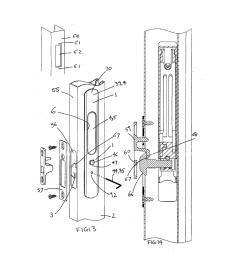 sliding door and window locks diagram schematic and image 06 door parts diagram sliding door diagram [ 1024 x 1320 Pixel ]