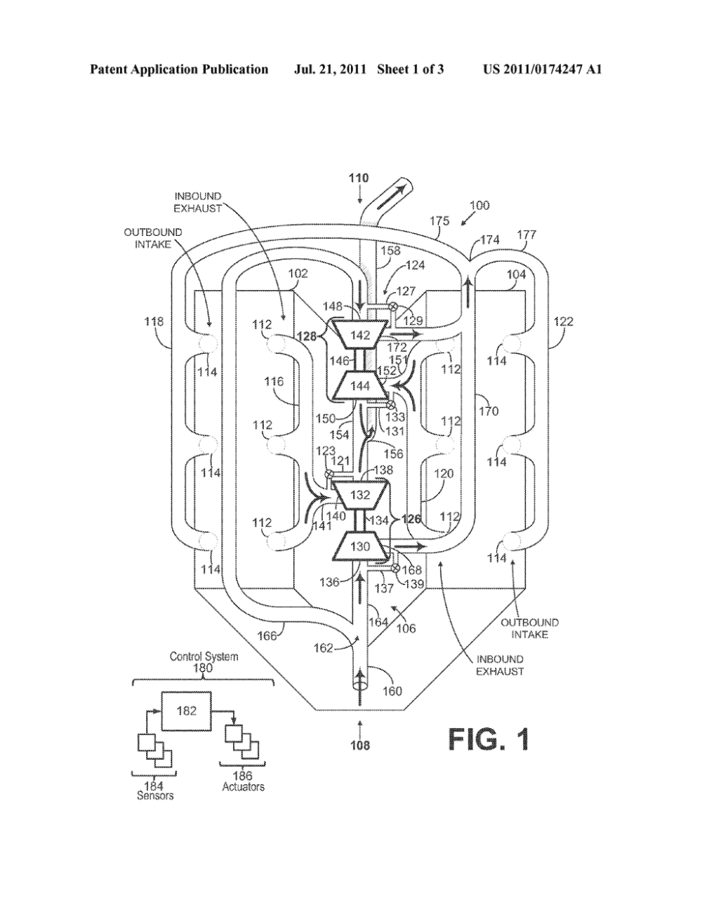 medium resolution of central turbocharger mounting configuration for a twin turbo engine diagram schematic and image 02