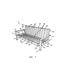 frames for futon sofa beds and methods of securing slats therein diagram schematic and image 02 [ 1024 x 1320 Pixel ]