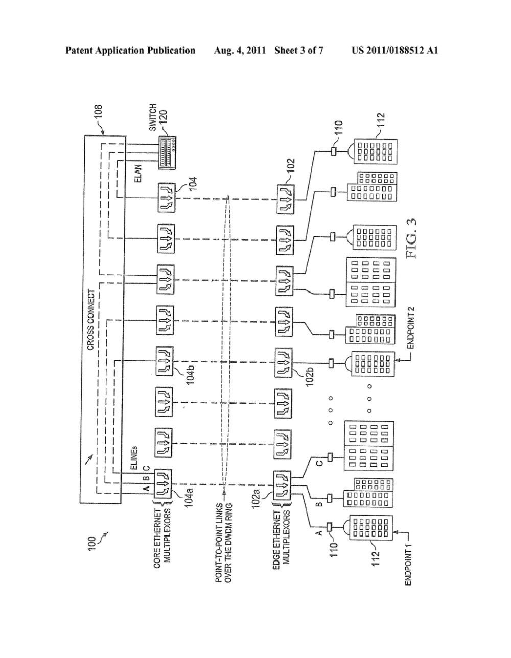 medium resolution of cross connect using ethernet multiplexors for a simple metro ethernet network diagram schematic and image 04