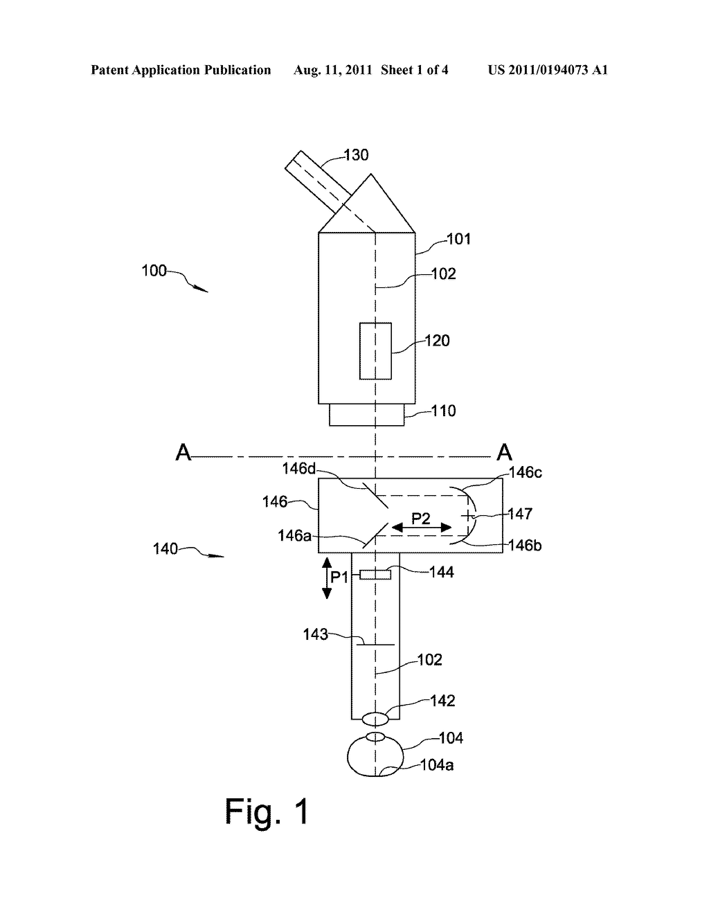 hight resolution of attachment module for a microscope for observing the fundus of the eye diagram schematic and image 02