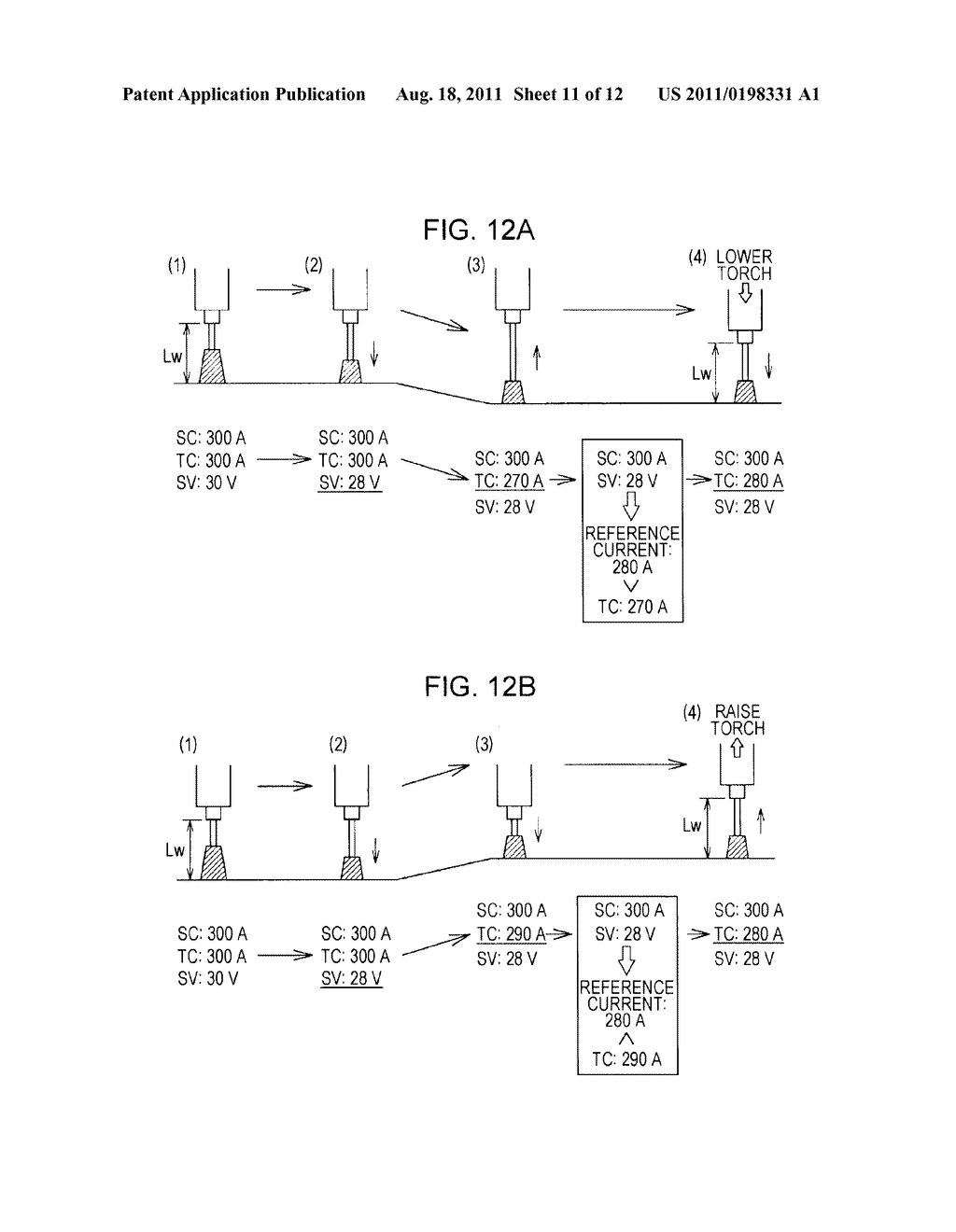 hight resolution of tip base metal distance control method for arc welding system and arc welding system diagram schematic and image 12