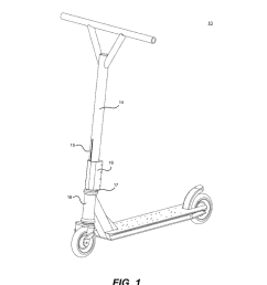 threadless fork compression system and method for kick style scooter diagram schematic and image 02 [ 1024 x 1320 Pixel ]
