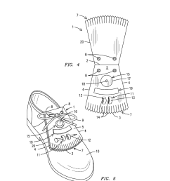 shoe lace flap with golfing accessory holders diagram schematic and image 03 [ 1024 x 1320 Pixel ]