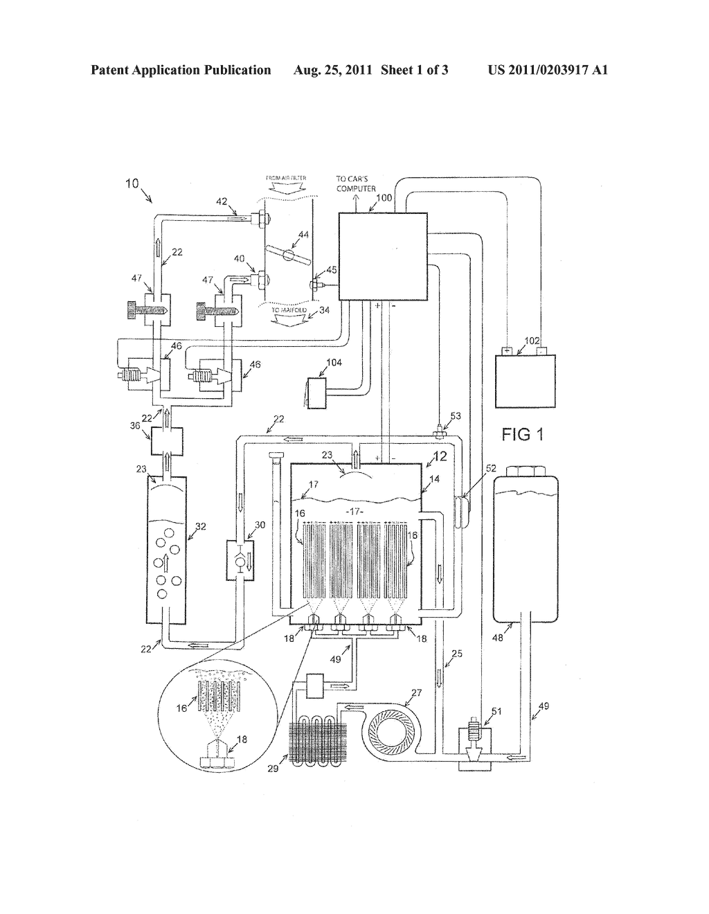 hight resolution of system for the electrolytic production of hydrogen as a fuel for an internal combustion engine