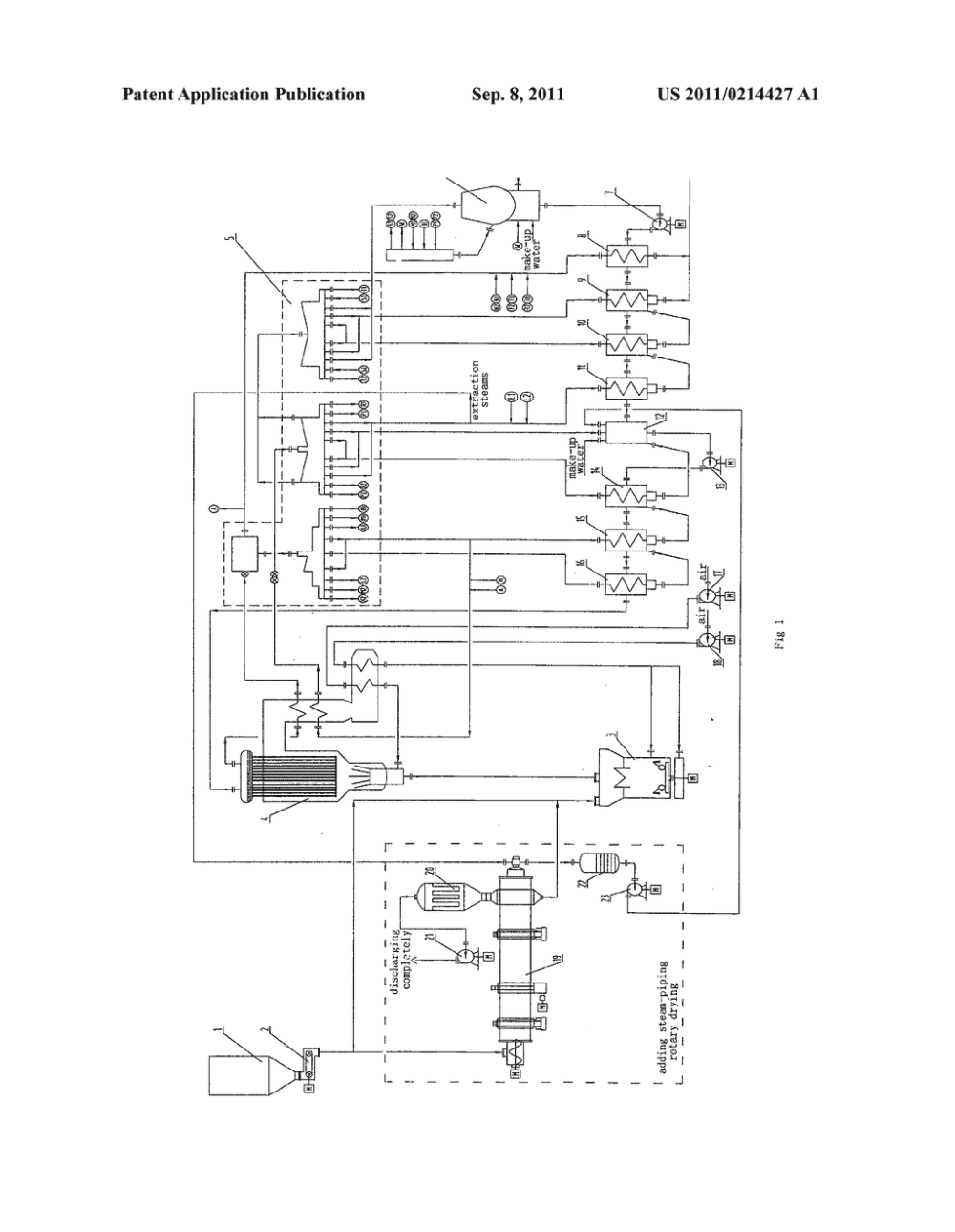 medium resolution of process for reducing coal consumption in coal fired power plant with steam piping drying diagram schematic and image 02