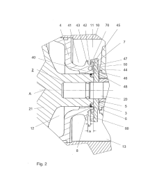 device for sealing a bearing housing of an exhaust gas turbocharger diagram schematic and image 03 [ 1024 x 1320 Pixel ]