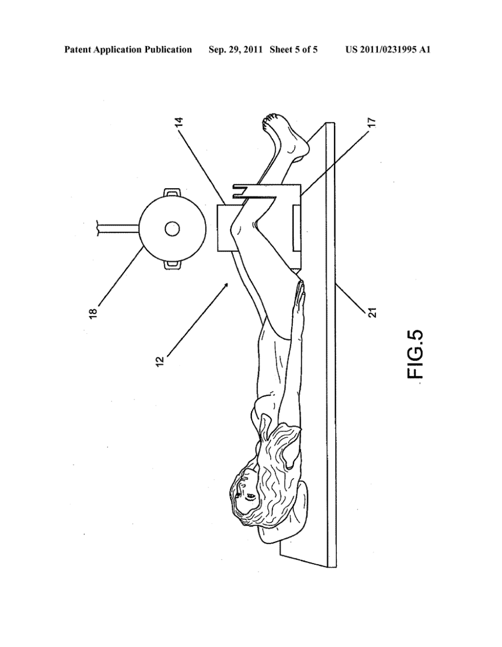 medium resolution of patient positioning device and method for obtaining bent knee x ray views diagram schematic and image 06