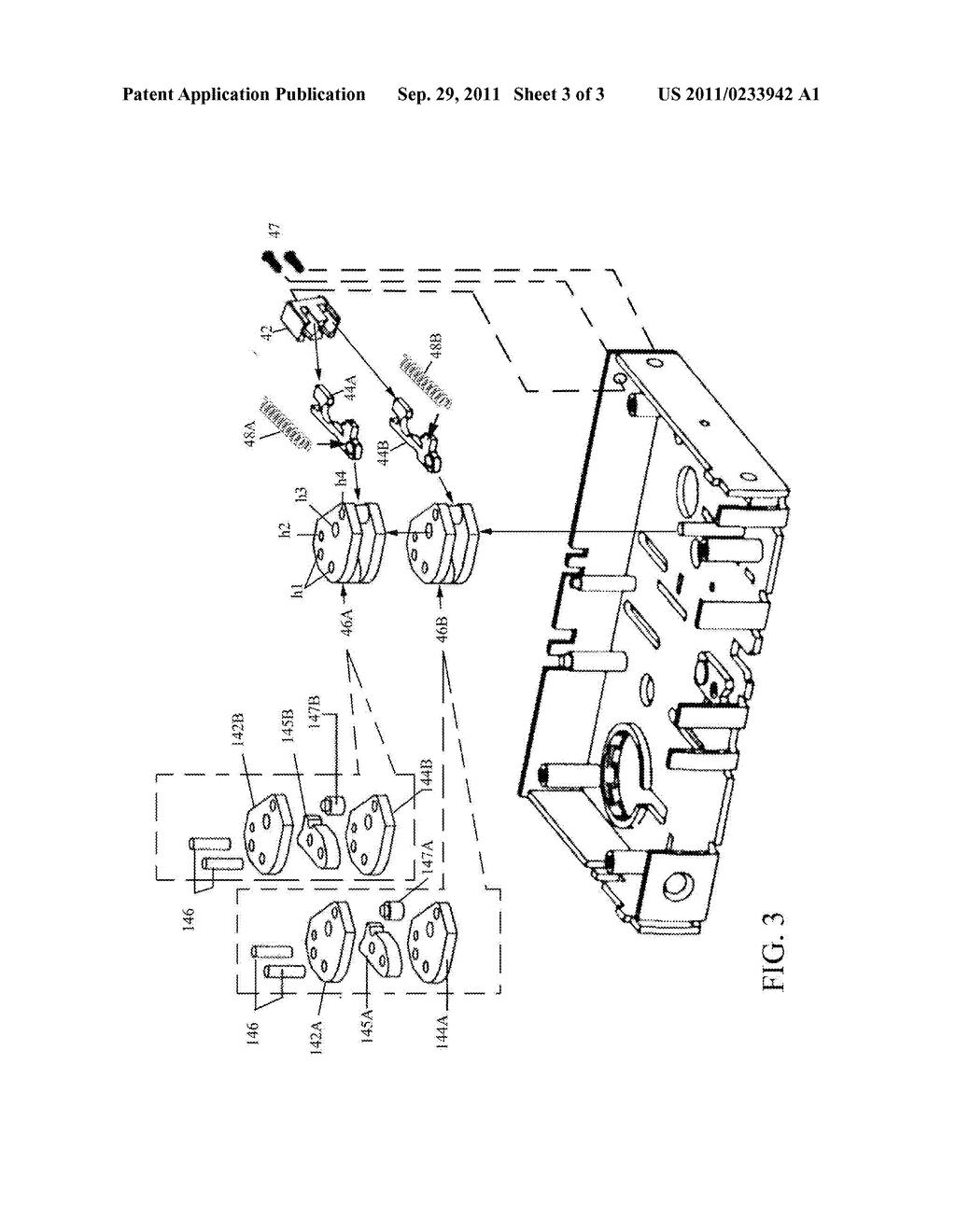 Mortise lock with dual reverse lockout mechanism diagram rh patentsencyclopedia garage door lock mechanism diagram key lock mechanism diagram
