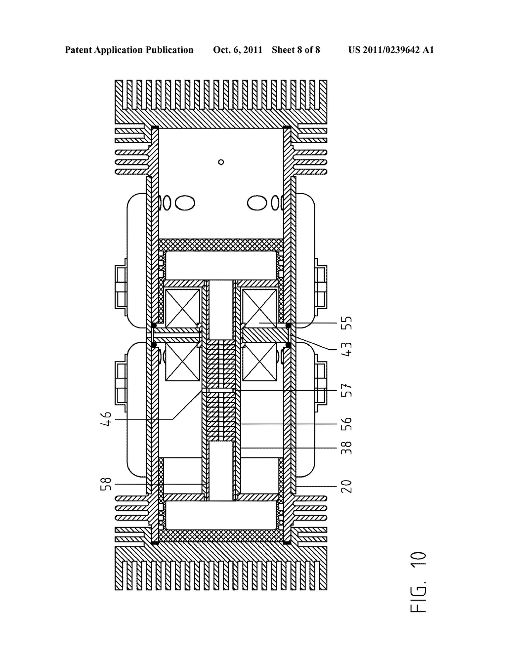 hight resolution of double acting two stroke hcci compound free piston rotating shaft engine diagram schematic and image 09