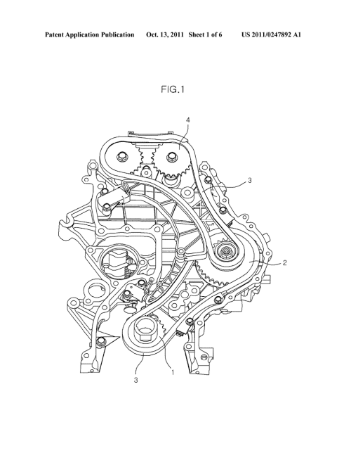 small resolution of noise reducing device for timing chain of diesel engine diagram schematic and image 02